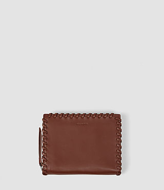Womens Fleur De Lis Small Wallet (BRICK BROWN)
