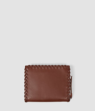 Women's Fleur De Lis Small Wallet (BRICK BROWN) - product_image_alt_text_2