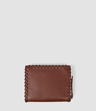 Womens Fleur De Lis Small Wallet (BRICK BROWN) - product_image_alt_text_2