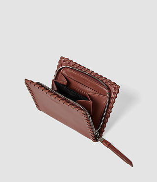 Women's Fleur De Lis Small Wallet (BRICK BROWN) - product_image_alt_text_3