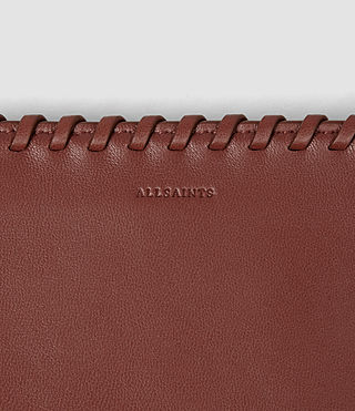Womens Fleur De Lis Small Wallet (BRICK BROWN) - product_image_alt_text_4
