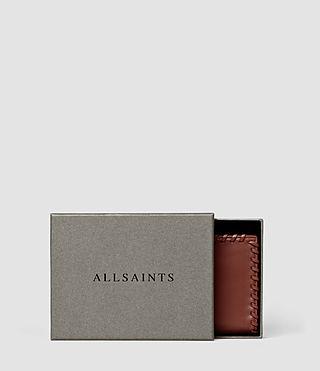 Womens Fleur De Lis Small Wallet (BRICK BROWN) - product_image_alt_text_5