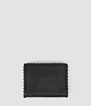 Femmes Fleur De Lis Small Leather Wallet (Black)