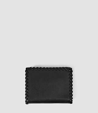Donne Fleur De Lis Small Leather Wallet (Black) - product_image_alt_text_2