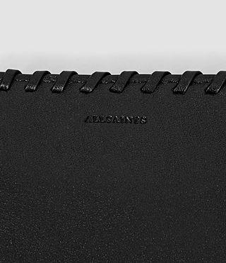 Mujer Fleur De Lis Small Wallet (Black) - product_image_alt_text_3