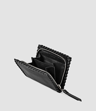 Donne Fleur De Lis Small Leather Wallet (Black) - product_image_alt_text_4