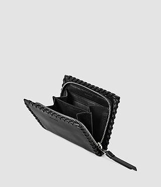 Mujer Fleur De Lis Small Wallet (Black) - product_image_alt_text_4