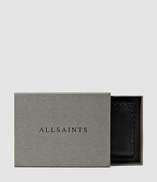 Donne Fleur De Lis Small Leather Wallet (Black) - product_image_alt_text_5