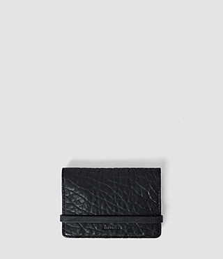 Women's Paradise Leather Cardholder (Navy/Black)