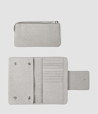 Womens Paradise Japanese Wallet (Light Grey) - product_image_alt_text_2