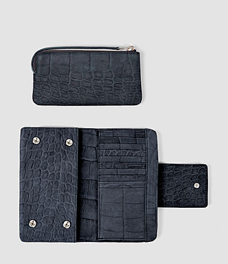 Women's Paradise Japanese Wallet (Petrol Blue) - product_image_alt_text_2