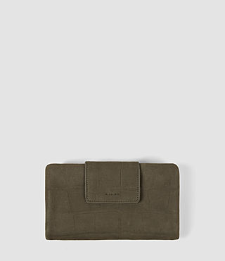 Women's Paradise Japanese Wallet (Dark Khaki Green)