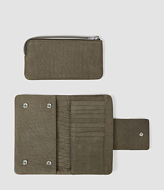 Mujer Paradise Japanese Wallet (Dark Khaki Green) - product_image_alt_text_2