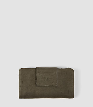 Mujer Paradise Japanese Wallet (Dark Khaki Green) - product_image_alt_text_3