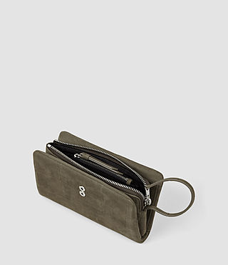 Mujer Paradise Japanese Wallet (Dark Khaki Green) - product_image_alt_text_4