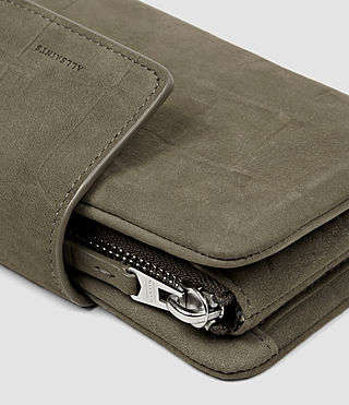 Mujer Paradise Japanese Wallet (Dark Khaki Green) - product_image_alt_text_5