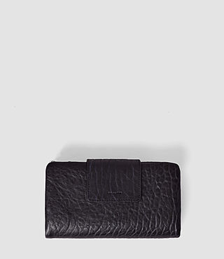 Mujer Paradise Japanese Leather Wallet (Navy/Black) -