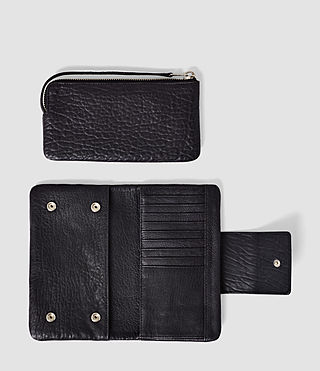 Mujer Paradise Japanese Leather Wallet (Navy/Black) - product_image_alt_text_2