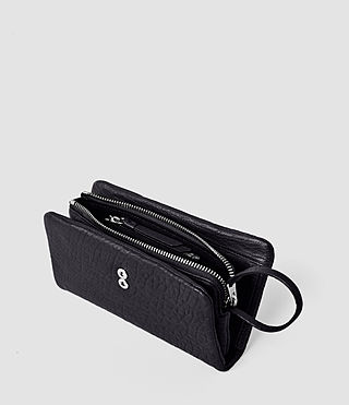 Mujer Paradise Japanese Leather Wallet (Navy/Black) - product_image_alt_text_4