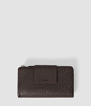 Damen Paradise Japanese Leather Wallet (Burgundy/Dk Choc)