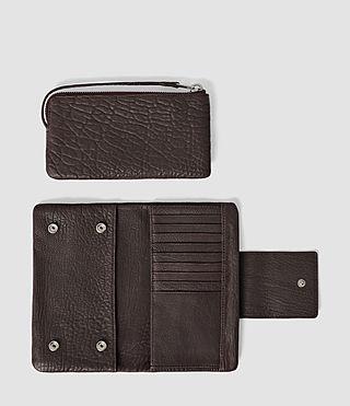 Damen Paradise Japanese Wallet (Burgundy/Dk Choc) - product_image_alt_text_2