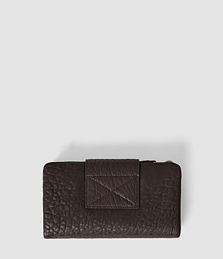Mujer Paradise Japanese Leather Wallet (Burgundy/Dk Choc) - product_image_alt_text_3