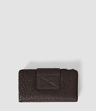 Damen Paradise Japanese Wallet (Burgundy/Dk Choc) - product_image_alt_text_3