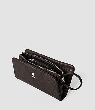 Damen Paradise Japanese Wallet (Burgundy/Dk Choc) - product_image_alt_text_4