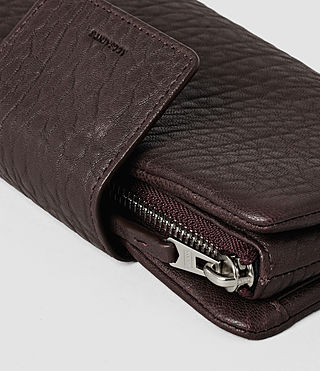 Mujer Paradise Japanese Leather Wallet (Burgundy/Dk Choc) - product_image_alt_text_5