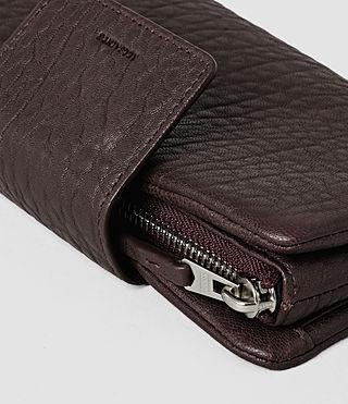 Damen Paradise Japanese Wallet (Burgundy/Dk Choc) - product_image_alt_text_5