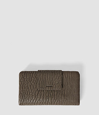 Damen Paradise Japanese Leather Wallet (Cement/Lead) -