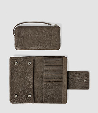 Donne Paradise Japanese Leather Wallet (Cement/Lead) - product_image_alt_text_2