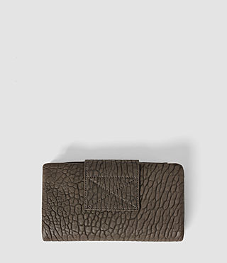 Women's Paradise Japanese Leather Wallet (Cement/Lead) - product_image_alt_text_3
