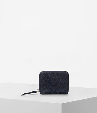 Mujer Echo Mini Wallet (MARINE BLUE/BLACK) - product_image_alt_text_1