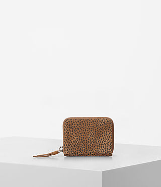 Womens Echo Mini Wallet (CARAMEL/BLACKBERRY) - product_image_alt_text_1
