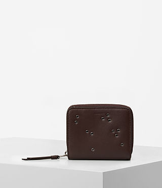 Damen Junai Medium Leather Wallet (PRUNE)