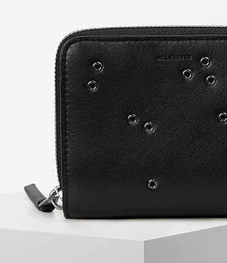 Womens Junai Medium Leather Wallet (Black) - product_image_alt_text_6