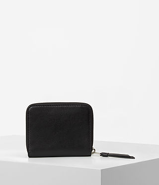Women's Junai Medium Leather Wallet (Black) - product_image_alt_text_7