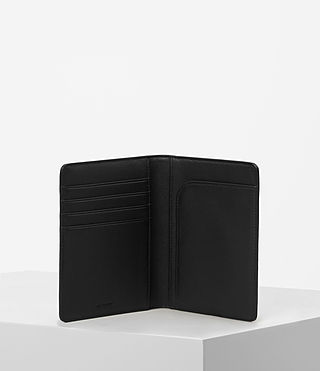 Womens Junai Leather Passport Holder (Black) - product_image_alt_text_4