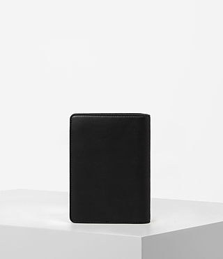 Womens Junai Leather Passport Holder (Black) - product_image_alt_text_5