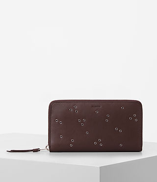 Womens Junai Leather Wallet (PRUNE)