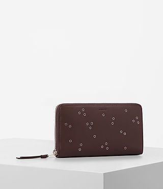 Womens Junai Leather Wallet (PRUNE) - product_image_alt_text_3