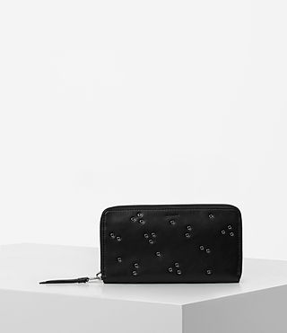 Mujer Junai Leather Wallet (Black)