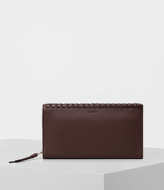 Womens Kita Leather Wallet (PRUNE)