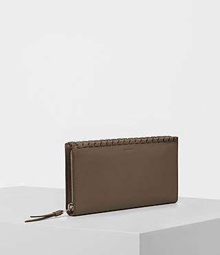 Womens Kita Leather Wallet (MINK GREY) - product_image_alt_text_3