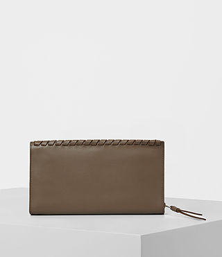 Mujer Kita Leather Wallet (MINK GREY) - product_image_alt_text_4