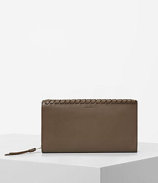 Damen Kita Leather Wallet (Mink)