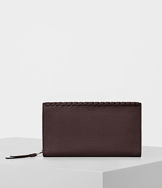 Womens Kita Pebble Leather Wallet (PRUNE)