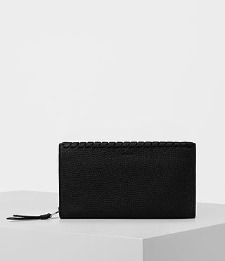 Women's Kita Pebble Leather Wallet (Black) -