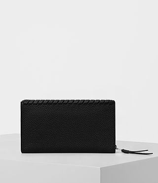 Women's Kita Pebble Leather Wallet (Black) - product_image_alt_text_4